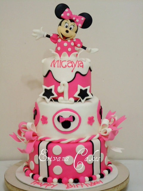 birthday cakes minnie mouse
