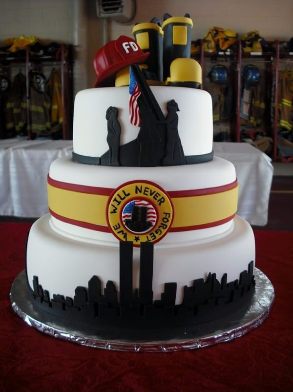 #FondantFriday – 9/11 Memorial Cake