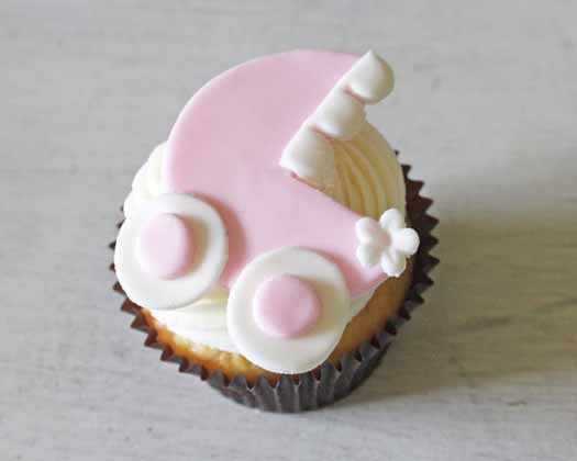 How to Make Baby Carriage Cupcake Toppers