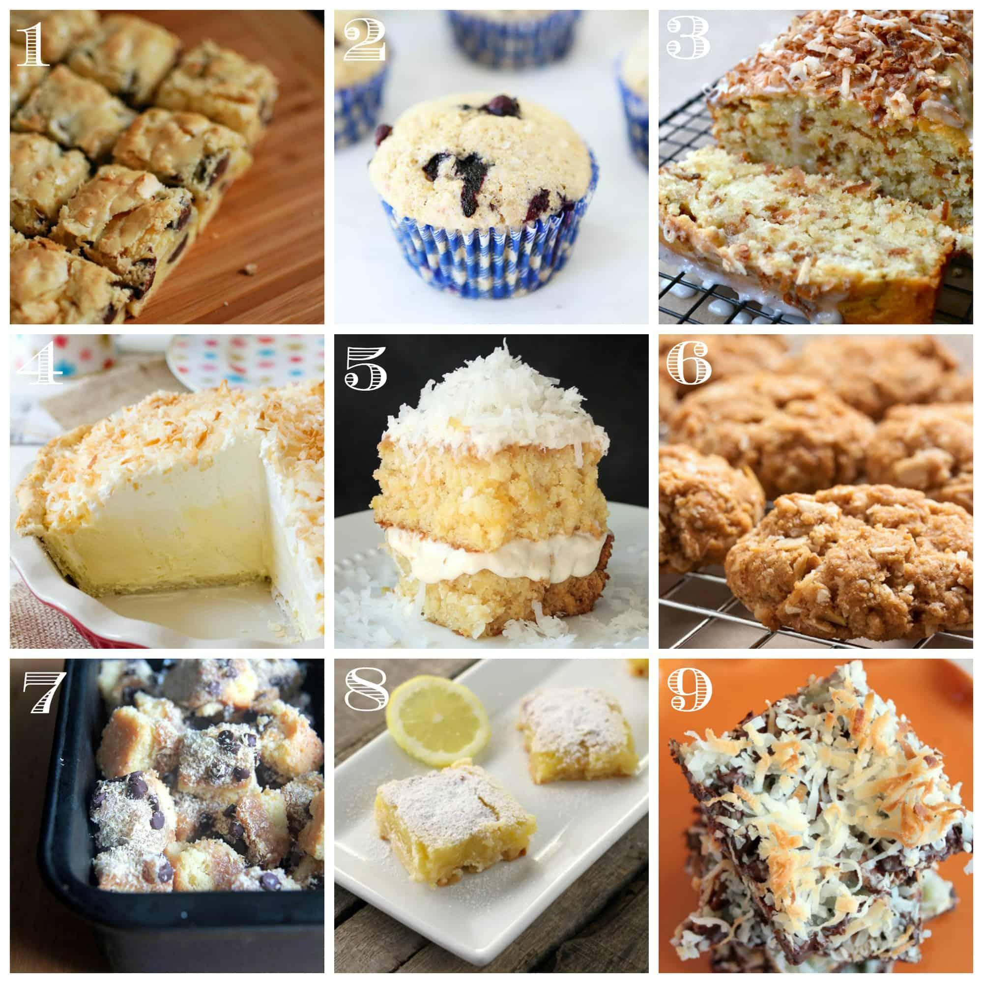 Coconut dessert recipes