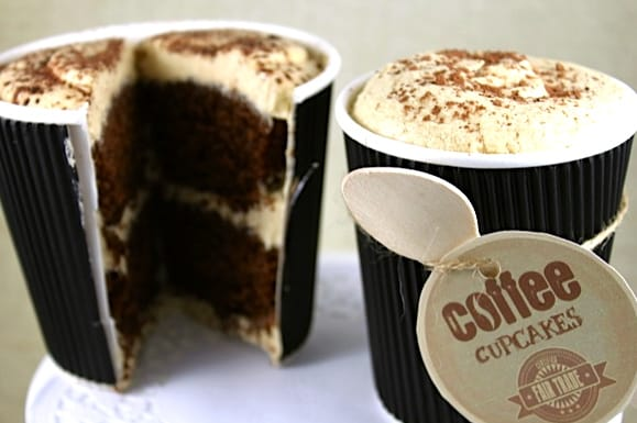 Coffee on the outside, Cupcake on the Inside!