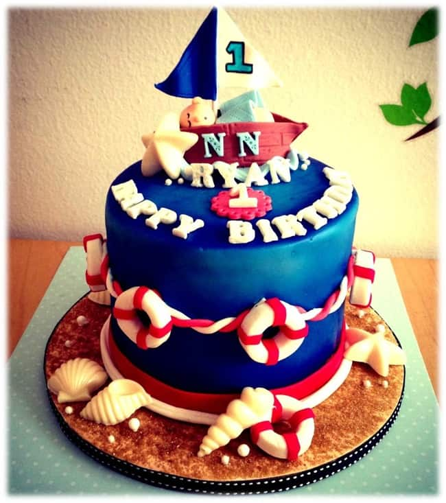 Nautical birthday topper