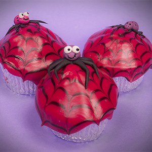 How to make Halloween Spider Web Cupcakes