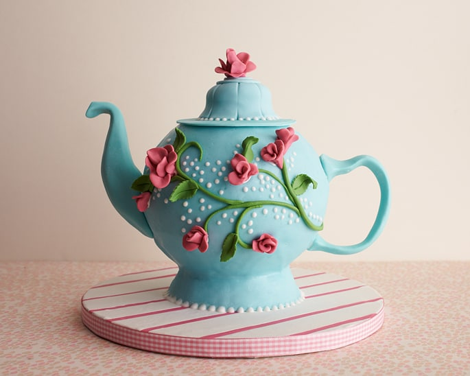 Prime How To Make A Teapot Cake Cakejournal Com Personalised Birthday Cards Cominlily Jamesorg