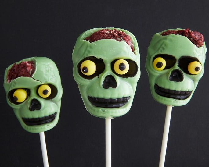 How To Make Creepy Zombie Pops With Cake Brains