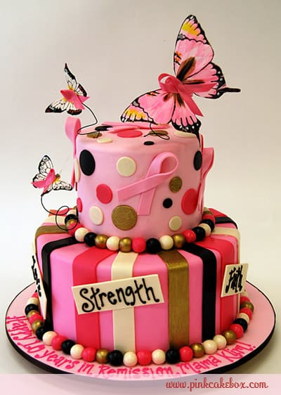 #FondantFriday – Breast Cancer Awareness Cake