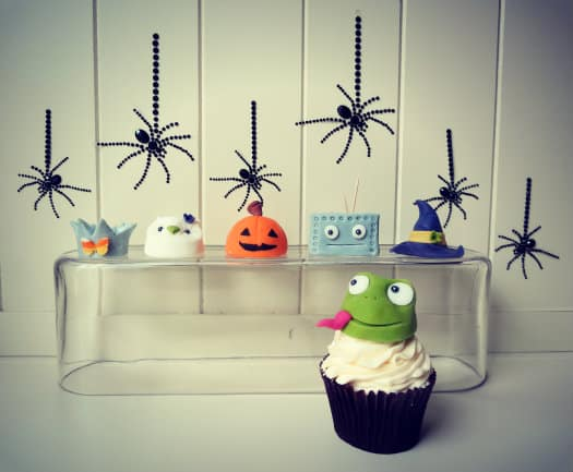 Halloween costume cupcake toppers