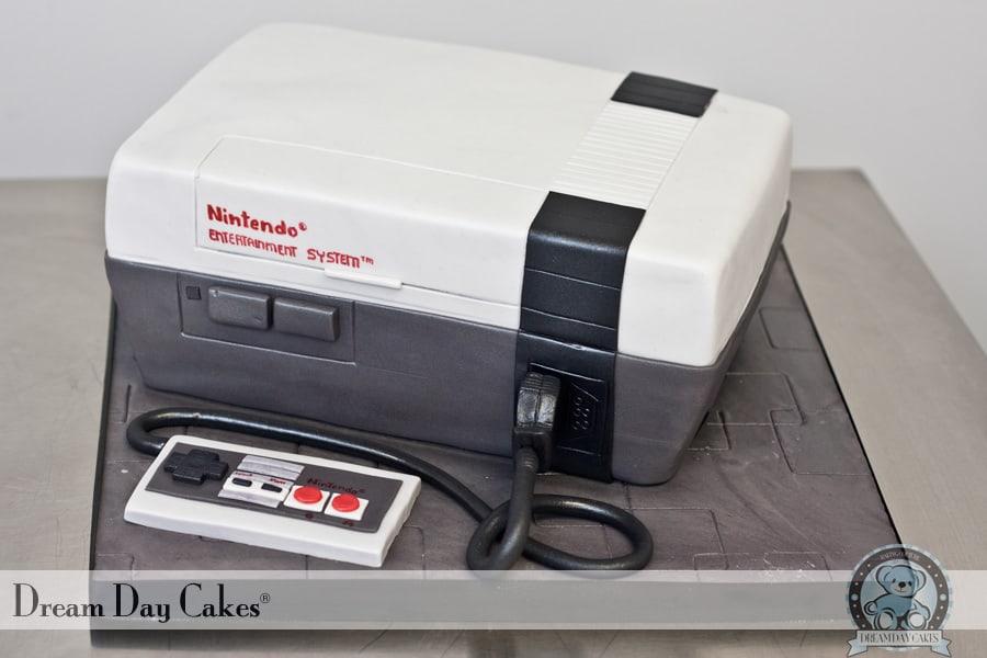 nintendo nes cake