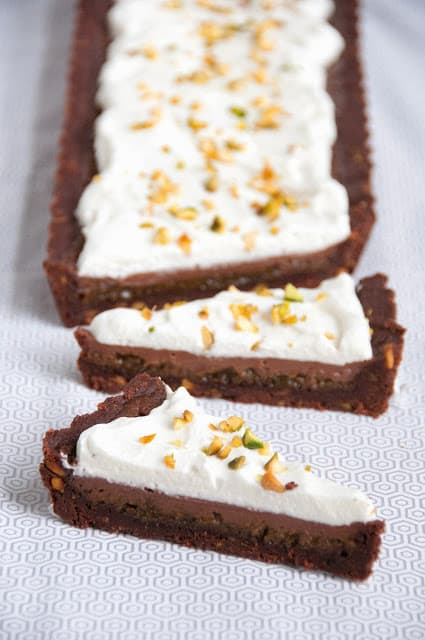 Milk Chocolate and Pistachio Tart