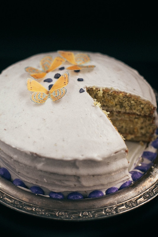 Lemon Poppyseed Layer Cake