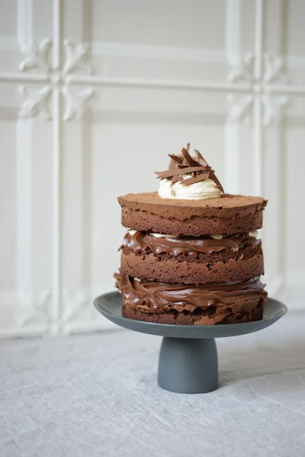 Chocolate Hazelnut Fudge Cake