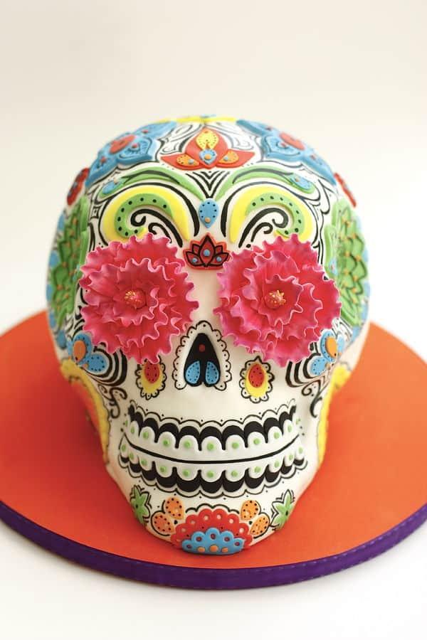 #FondantFriday – Dia de los Muertos Inspiration Cake