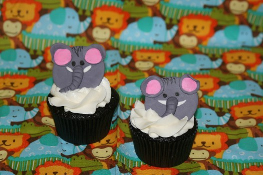 How to make Elephant cupcake toppers