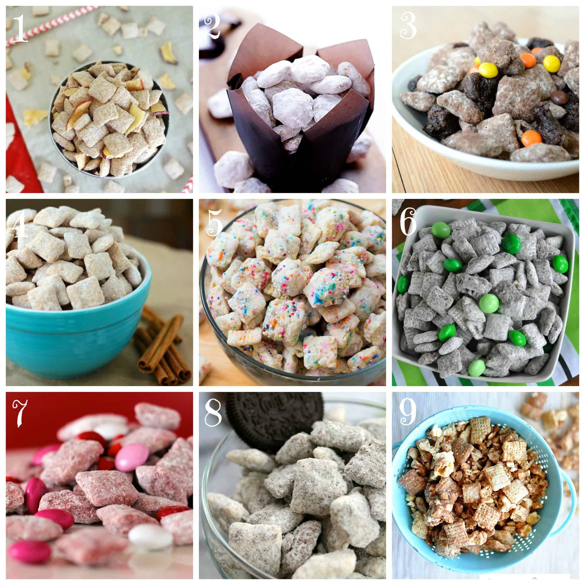 9 Variations of Making Puppy Chow Recipes