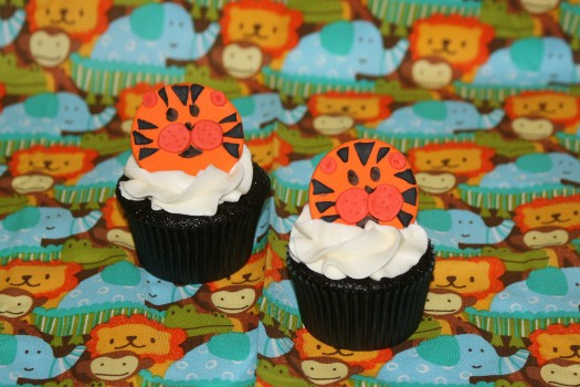 tiger cupcake toppers