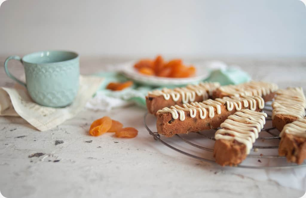 Apricot White Chocolate Biscotti