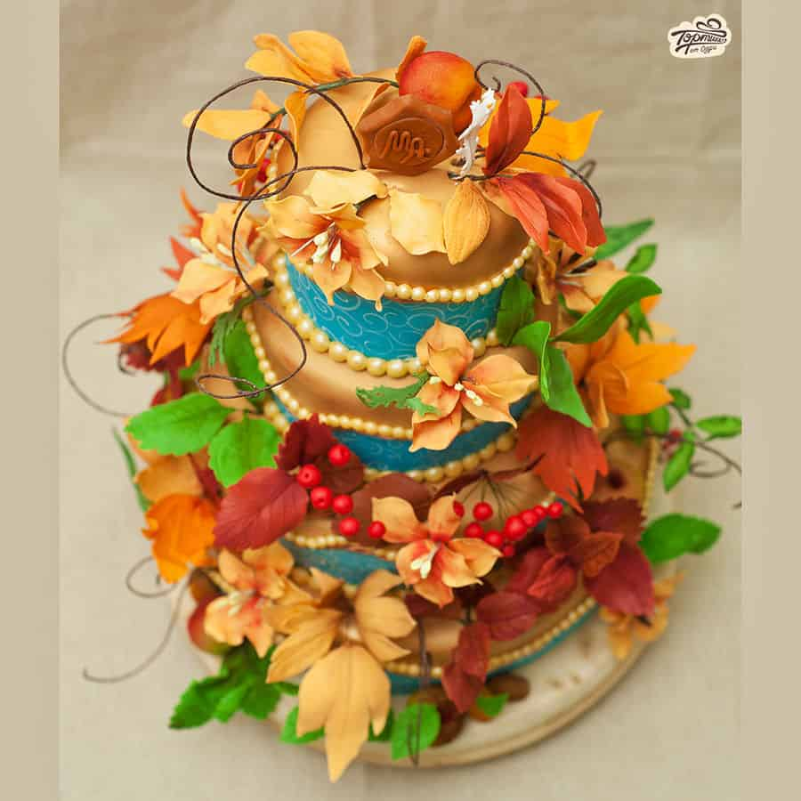 autumn wedding cake 2