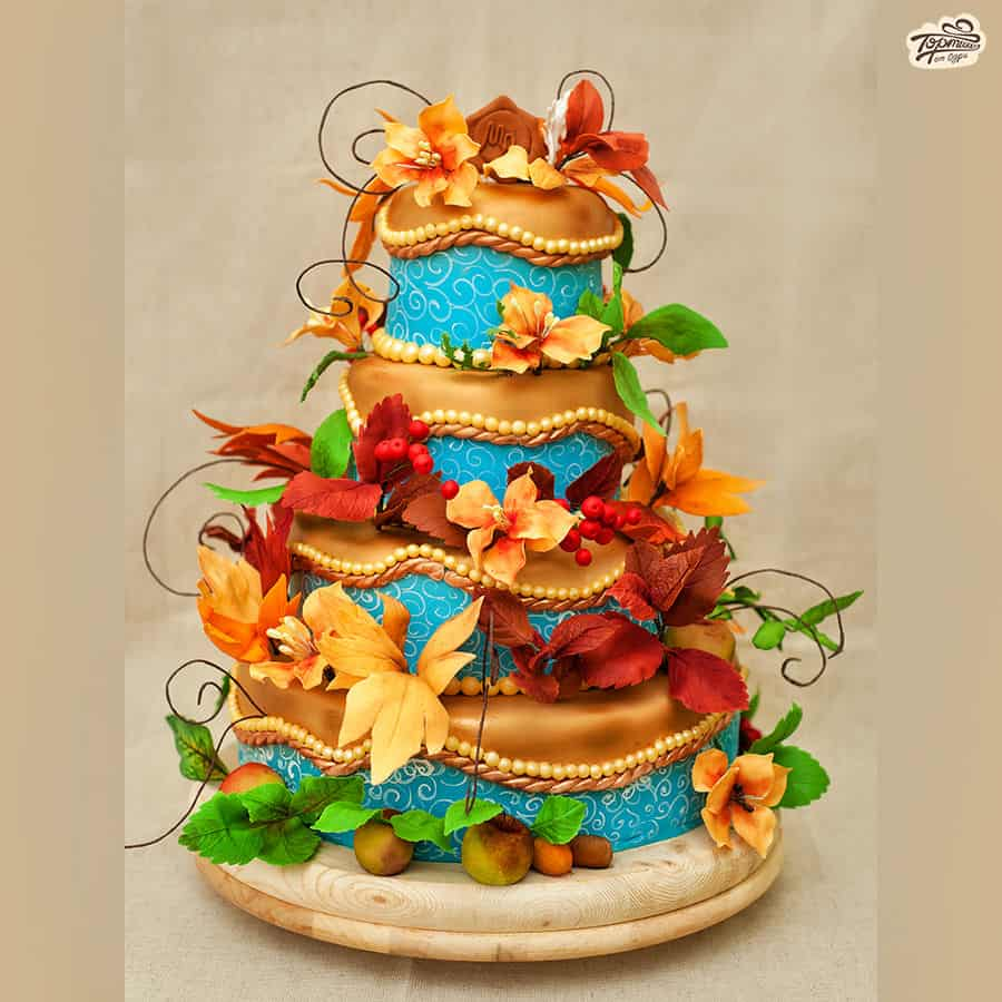 #FondantFriday – Autumn Wedding Cake