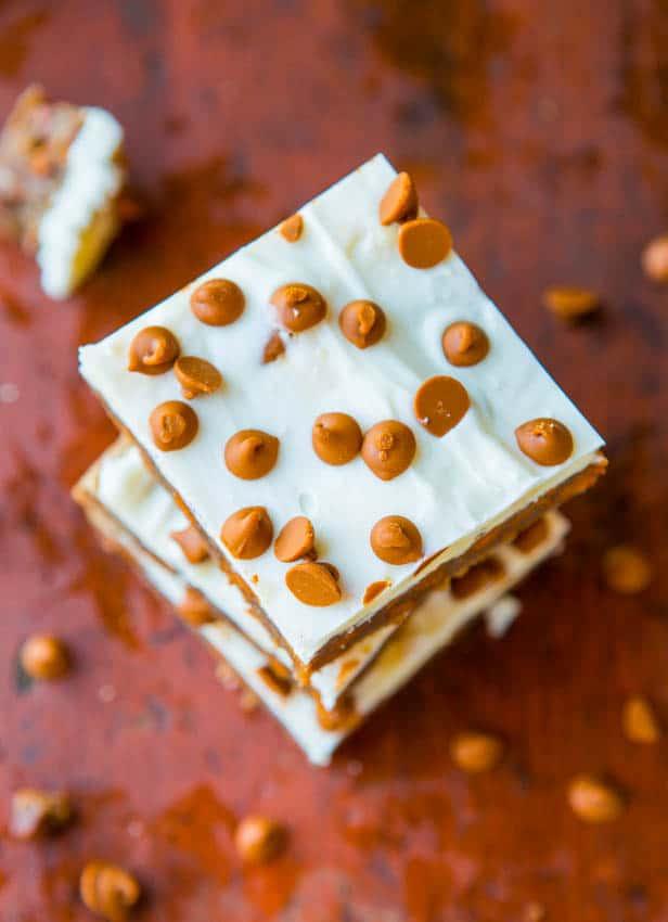white chocolate cinnamon chip bars