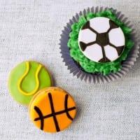 fondant basketball tennis soccer balls