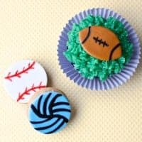 fondant baseball, volleyball, & footballs