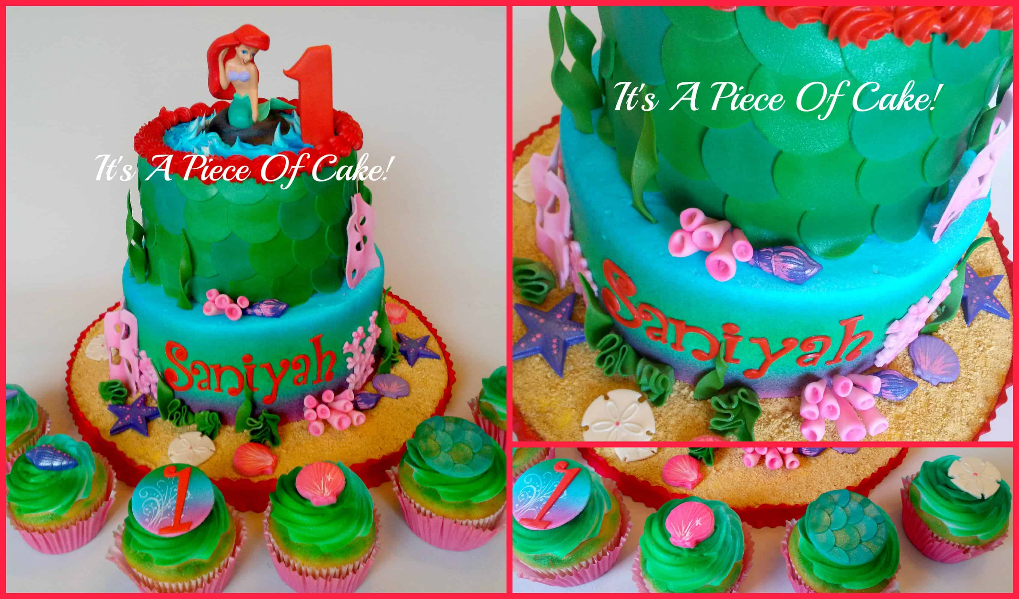 #FondantFriday – Little Mermaid Birthday Cake