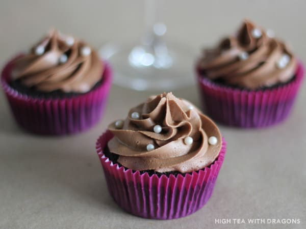 Red Wine Cupcakes with Whipped Milk Chocolate