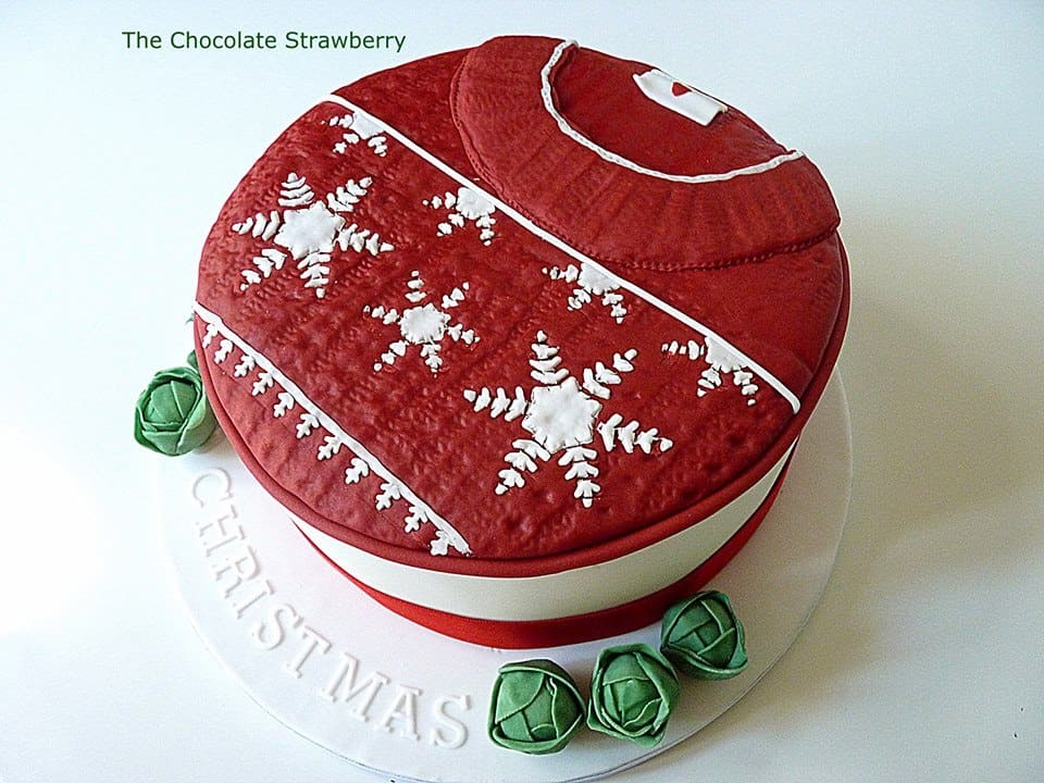 #FondantFriday – Christmas Jumper Cake