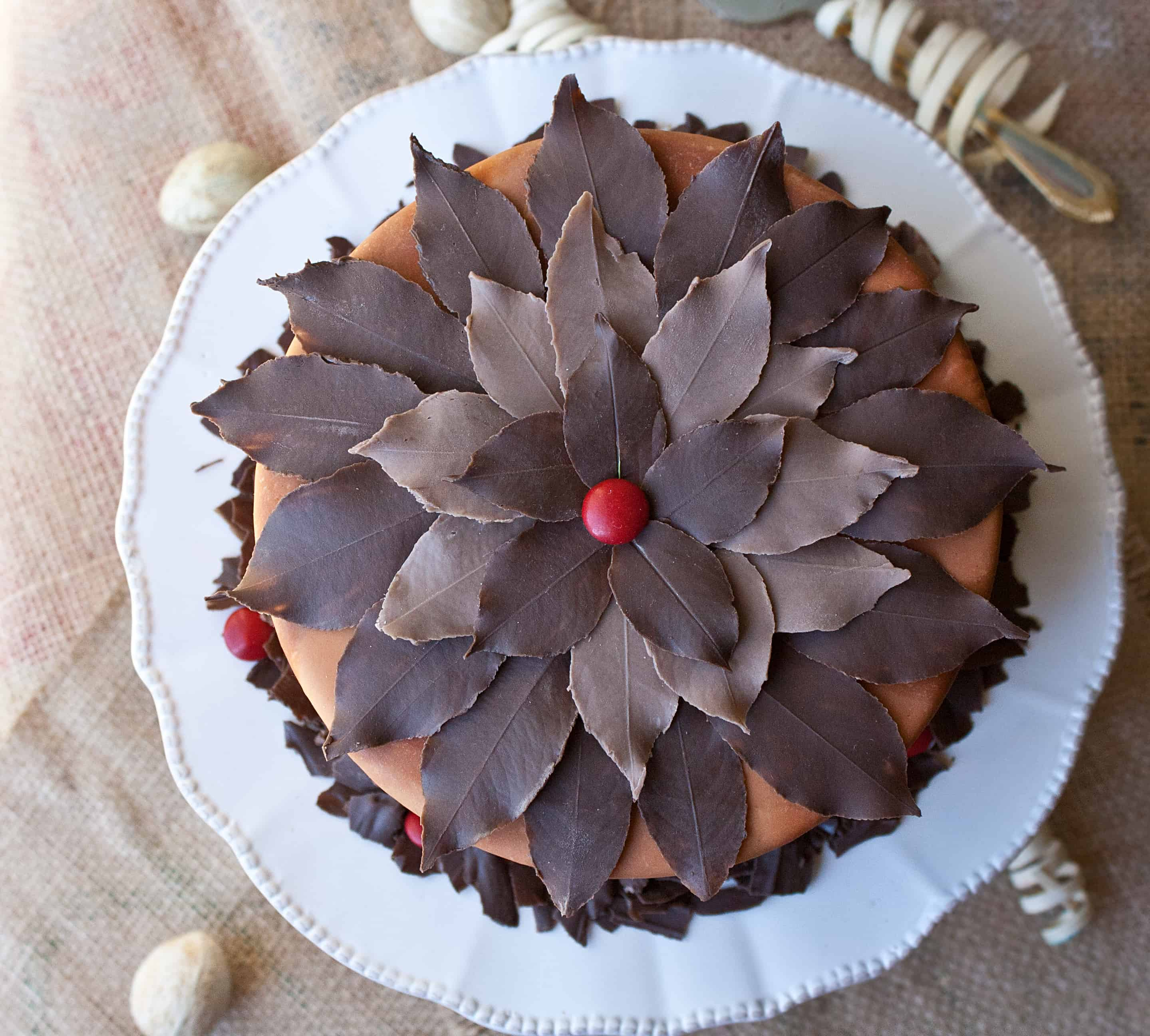 Video: How to make chocolate leaves cake topper