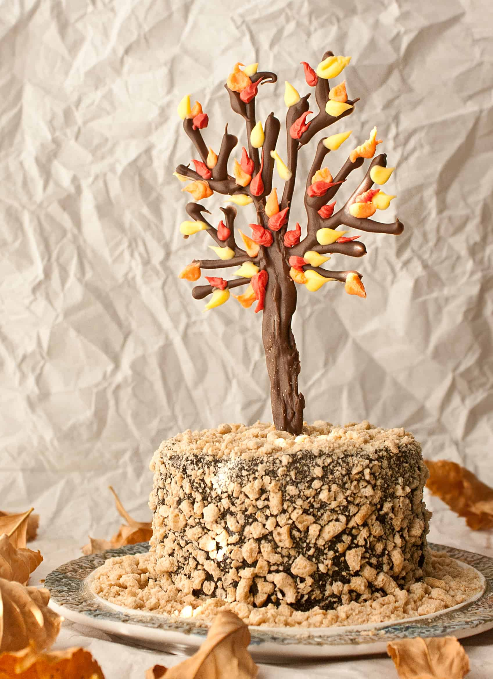 How to make a chocolate tree cake topper