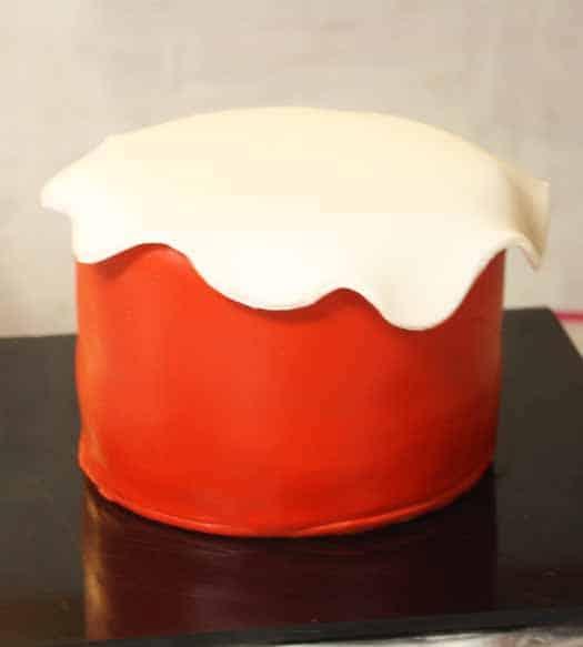how to make circle fondant cake