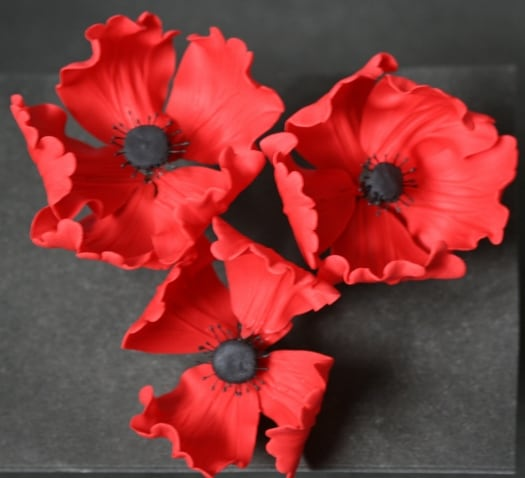 How to make a gum paste poppy flower