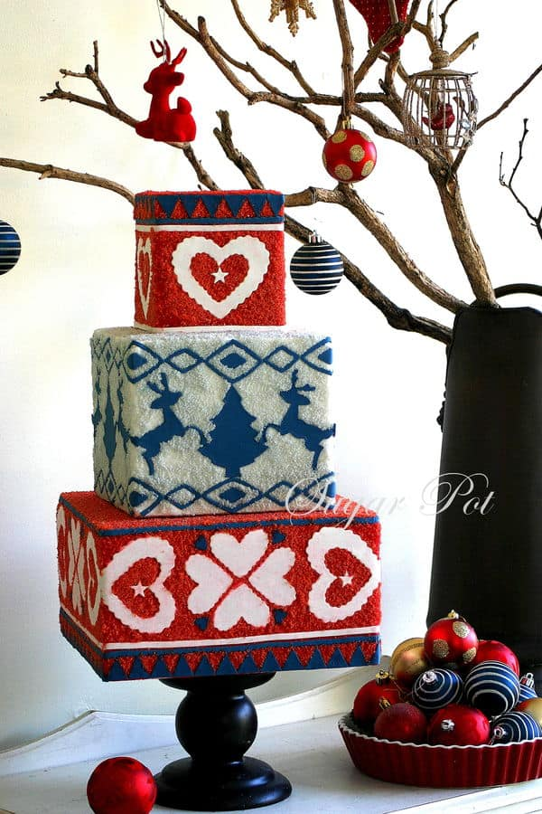#FondantFriday – Daggy Christmas Jumper Cake