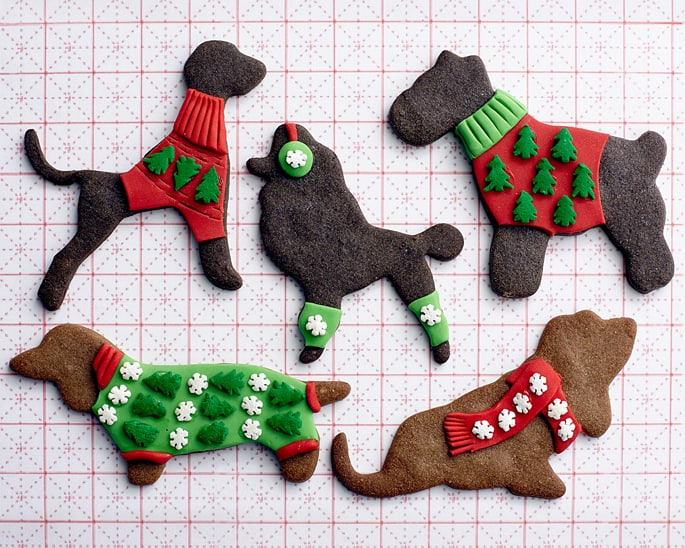 Christmas Sweater Gingerbread Dogs