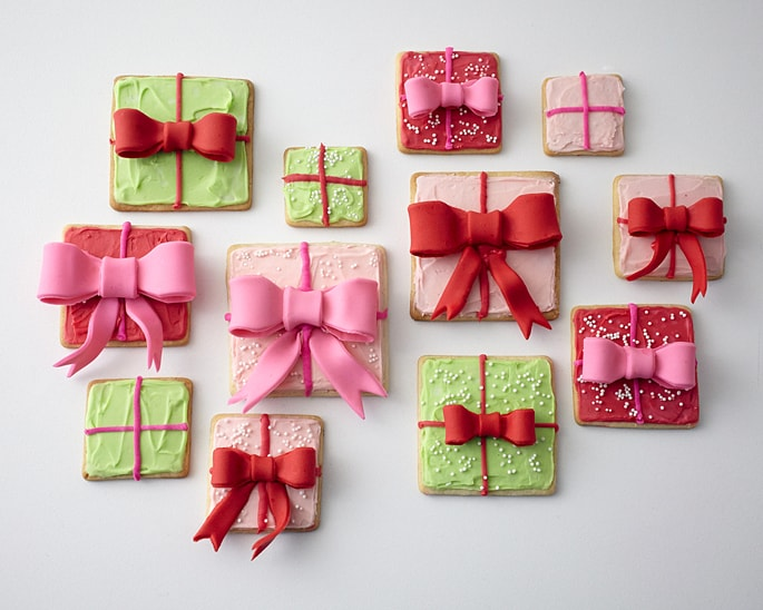 holiday gift box cookies
