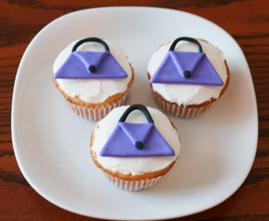 How to Make Purse Cupcake Toppers