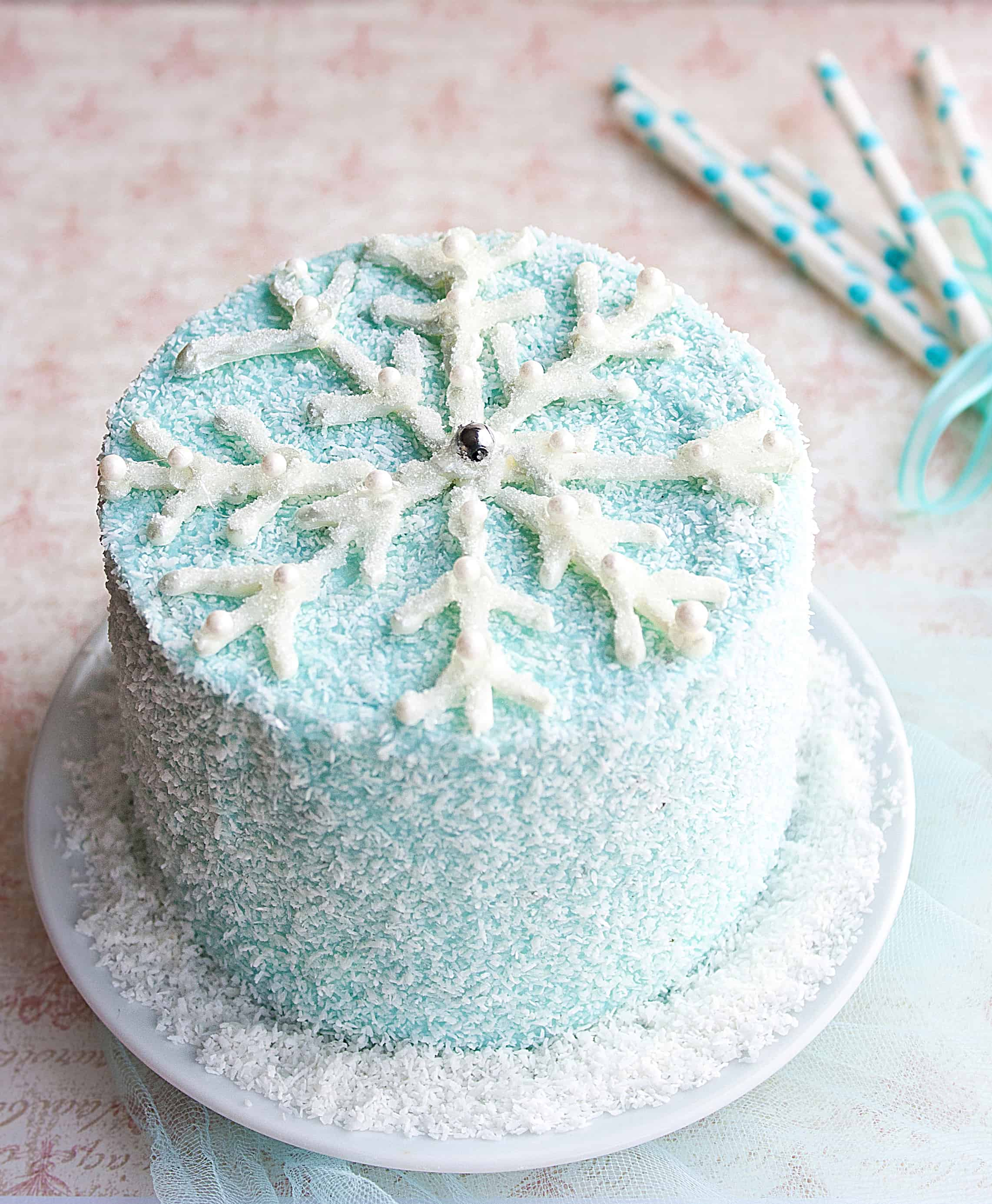 Edible Snowflake Cake Decorations