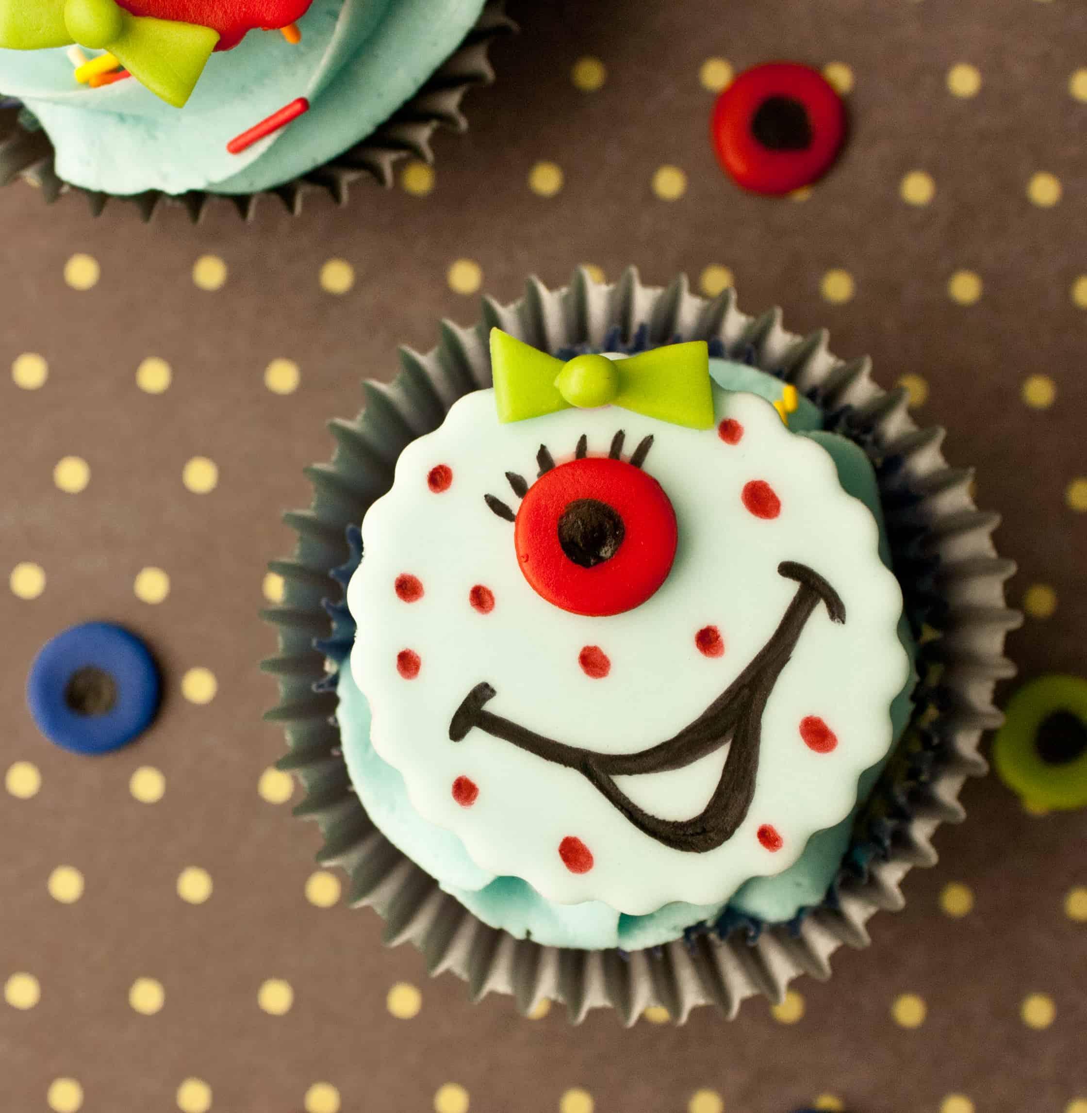monster cupcake topper