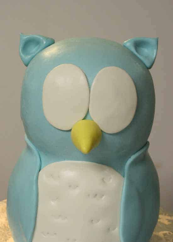How to Make a Standing Owl Cake 39