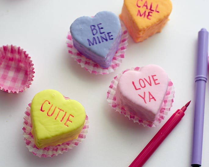 How to Make Valentine Heart Mini Cakes