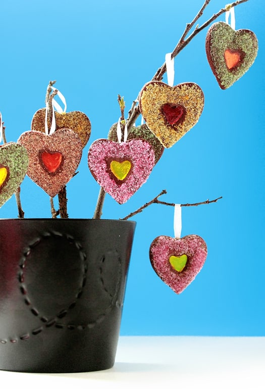 how to make a stained glass cookie tree