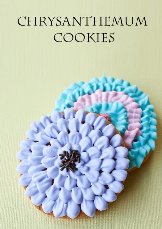 chrysanthemum cookies 9