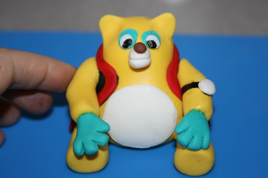 Special Agent Oso cake topper