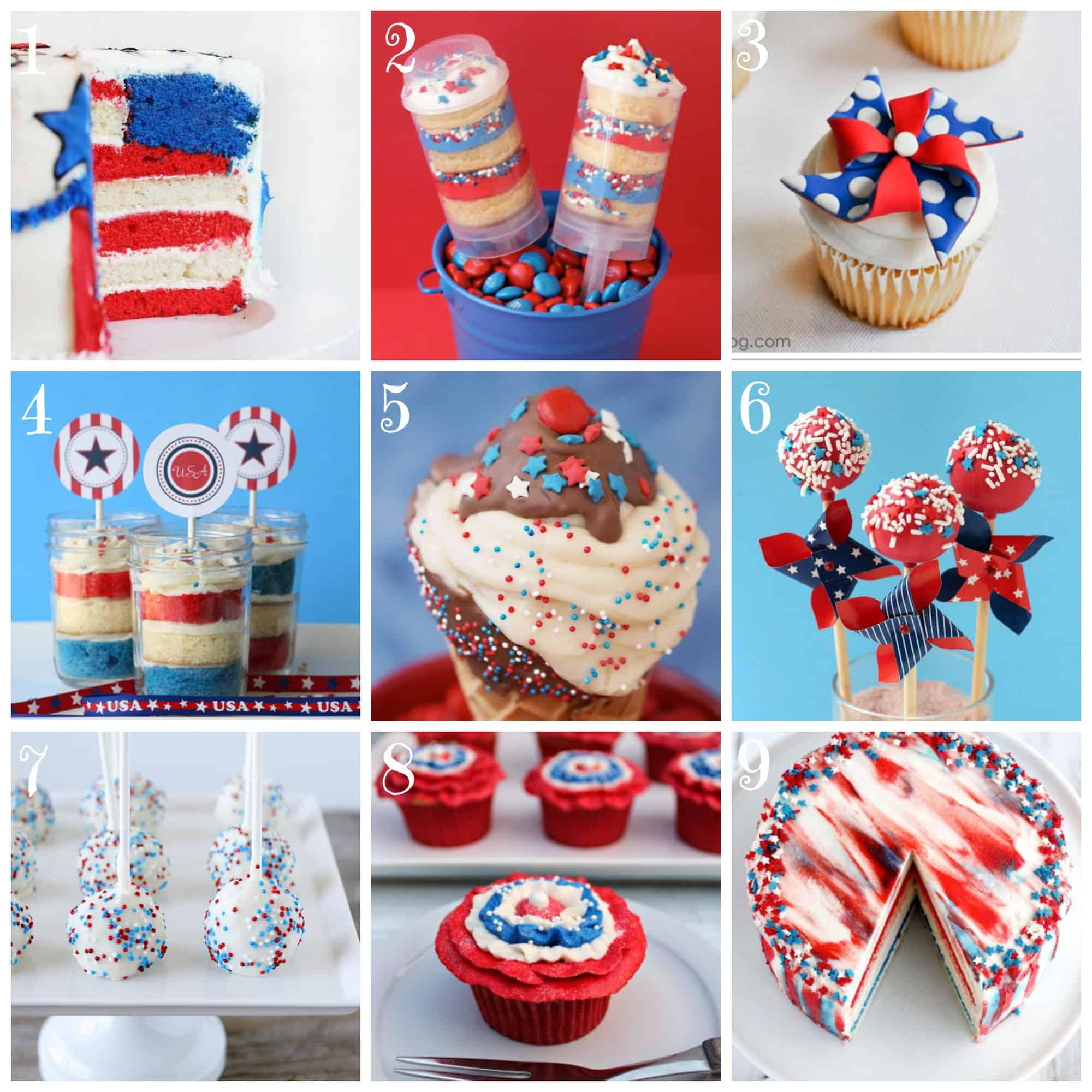 Festive 4th of July Cakes and Cupcakes!