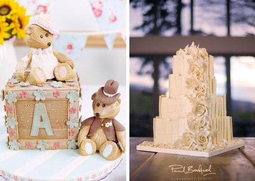 abc block cake and chocolate shard cake