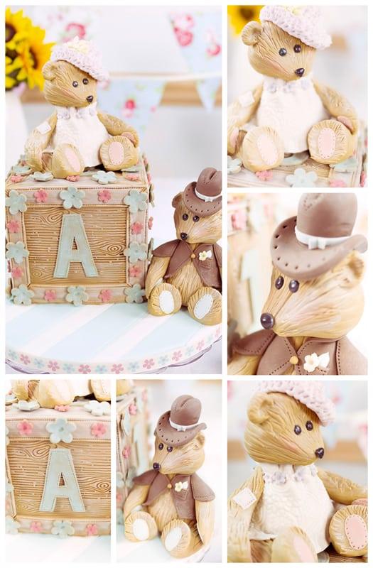 abc block cake collage