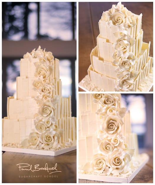 chocolate shard cake collage