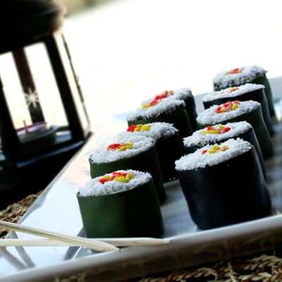 How to Make Mini Sushi Cakes