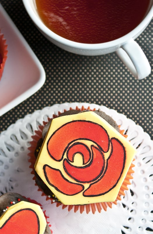 stencils with edible sprays