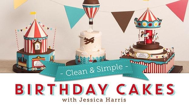Clean & Simple Birthday Cakes